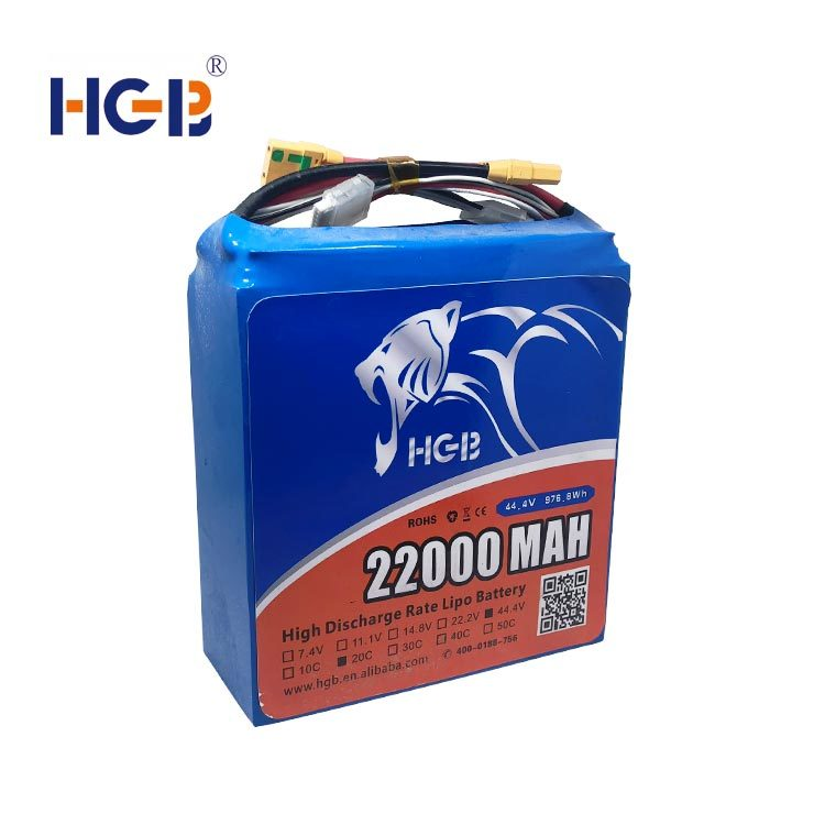 Drone battery 44.4V 12S 20C 22Ah HGB10790185