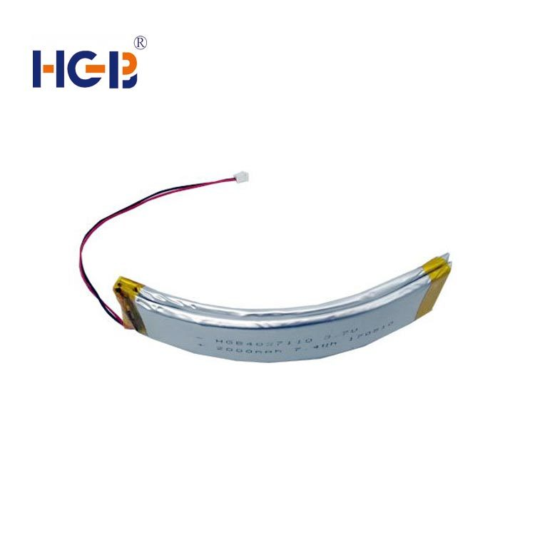 Flexible curved battery 3.7V 1000mAh HGB4027110