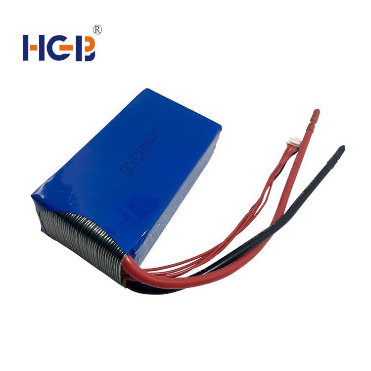 Lifepo4 battery pack 14.8V 4S2P 40C 6000mAh HGB5568120