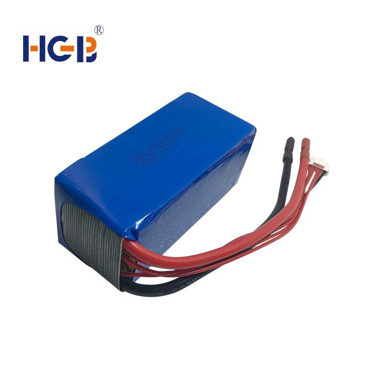 Lifepo4 battery pack  14.8V 4S2P 40C  2000mAh HGB6248105