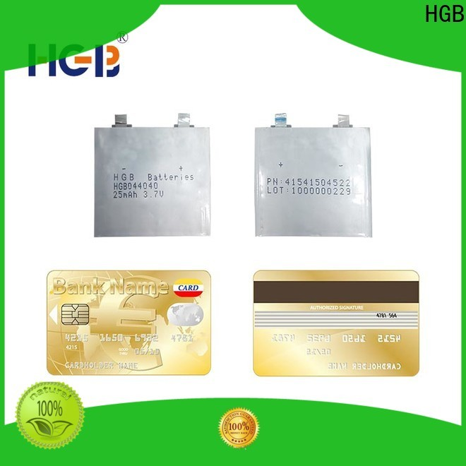 HGB high quality ultra thin battery factory for smart cards