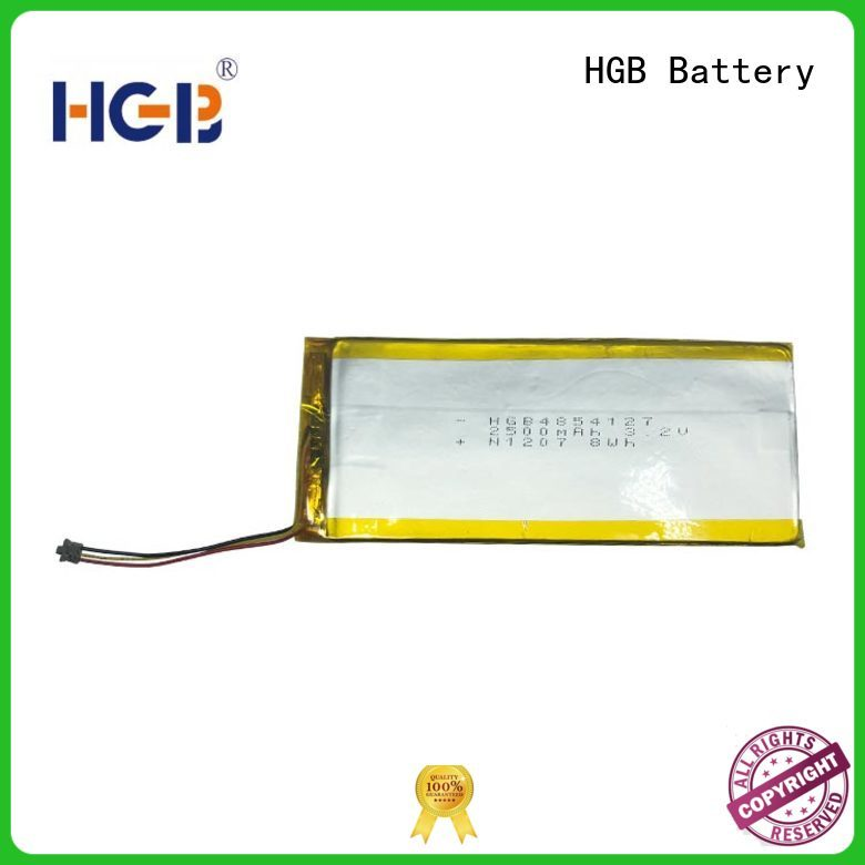 HGB good quality flat cell lithium ion battery manufacturer for mobile devices