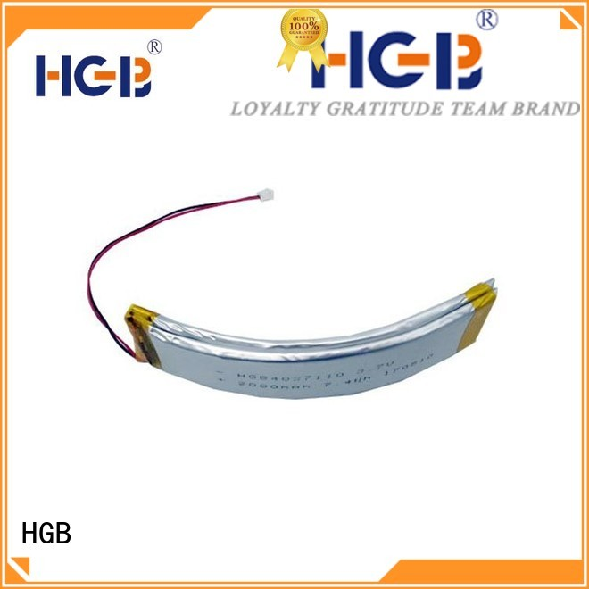 HGB flexible lithium polymer battery manufacturer for multi-function integrated watch