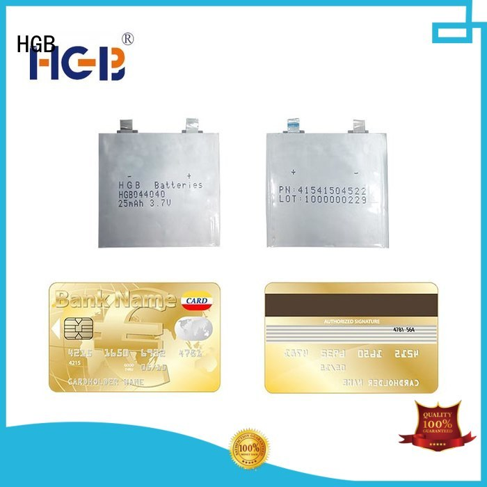 HGB long cycle life super thin battery factory price for wearable devices