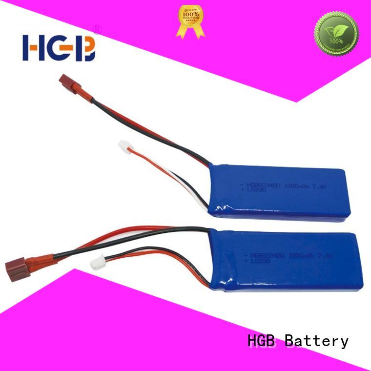 HGB rechargeable rc car battery factory price for RC quadcopters