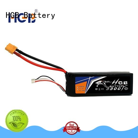 HGB rechargeable lithium polymer battery for rc helicopter supplier for RC quadcopters