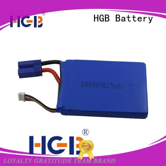 HGB long lasting portable car battery pack directly sale for jump starter