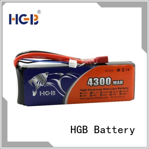 HGB rechargeable rc lithium ion battery directly sale for RC car
