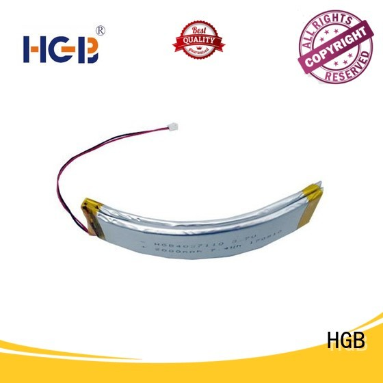 HGB flexible rechargeable battery design for wearable battery