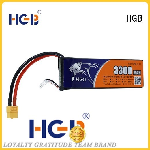 HGB reliable lithium ion battery for rc planes supplier for RC helicopter