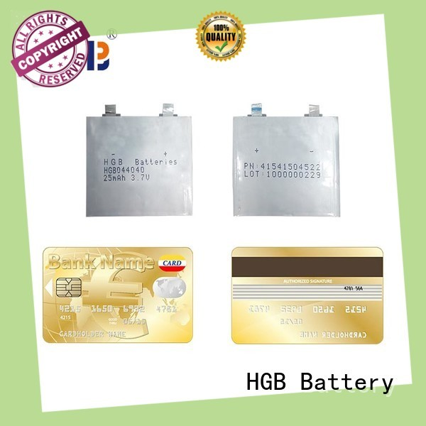 HGB rechargeable ultra thin battery customized for wearable devices