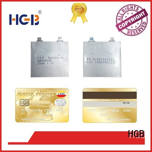 HGB ultrathin rechargeable lithium polymer batteries factory price for micro speakers