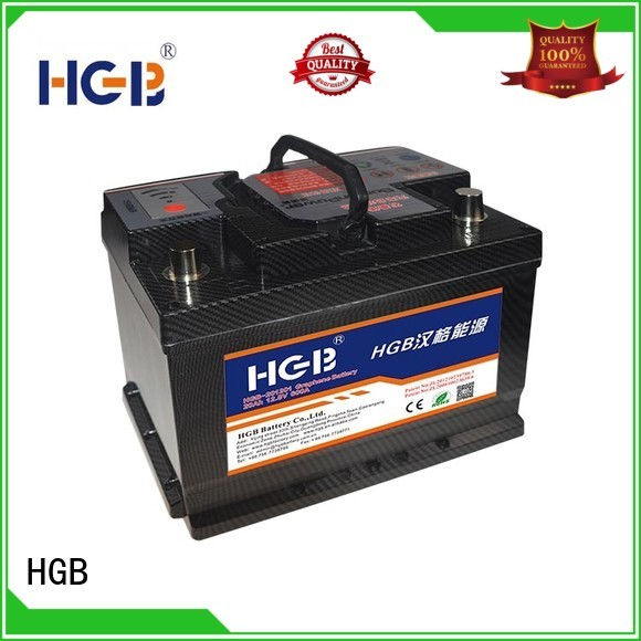 HGB convenient lithium car battery manufacturer for cars