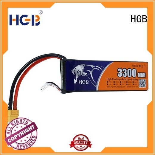 HGB reliable rc car battery wholesale for RC quadcopters