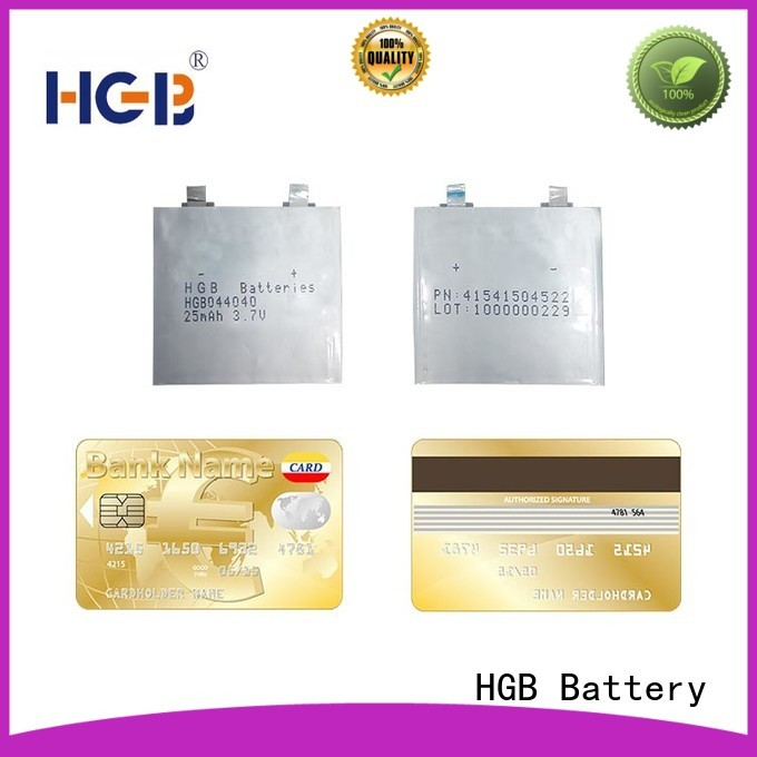 HGB ultra thin lithium polymer battery supplier for smart cards