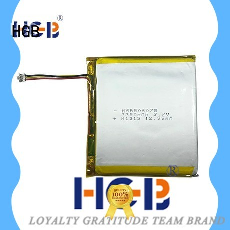 HGB flat lithium battery directly sale for mobile devices