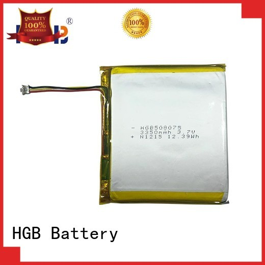 HGB good quality flat lithium polymer battery directly sale for mobile devices