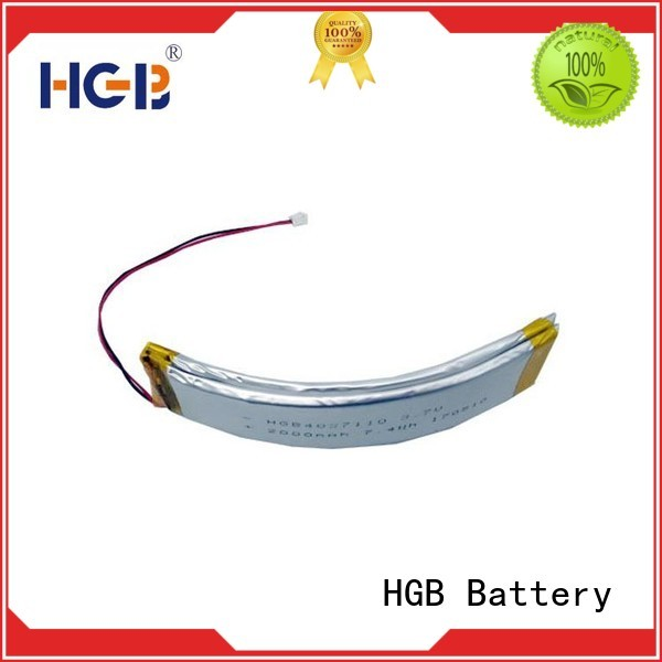rechargeable flexible battery customized for multi-function integrated watch