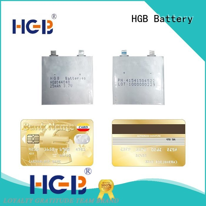 HGB ultra thin lithium battery supplier for tracking devices