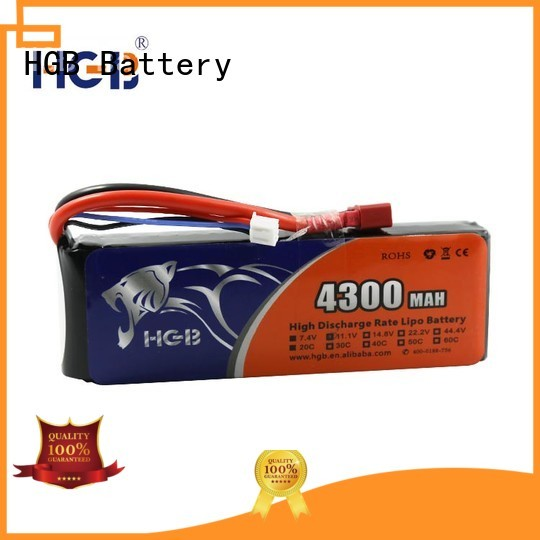 HGB popular rc lithium ion battery factory price for RC helicopter