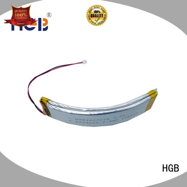 HGB flat 2D shape flexible lithium polymer battery customized for wearable battery
