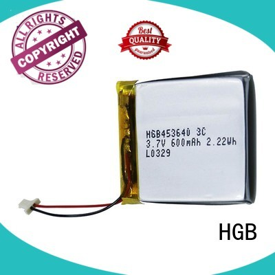 HGB quality flat lithium polymer battery customized for notebook