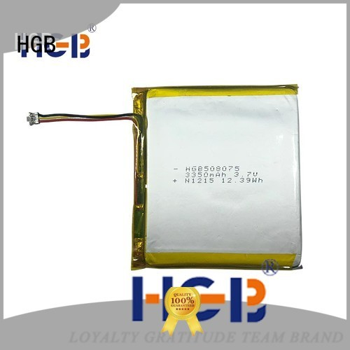 HGB rechargeable lithium polymer battery factory price for notebook