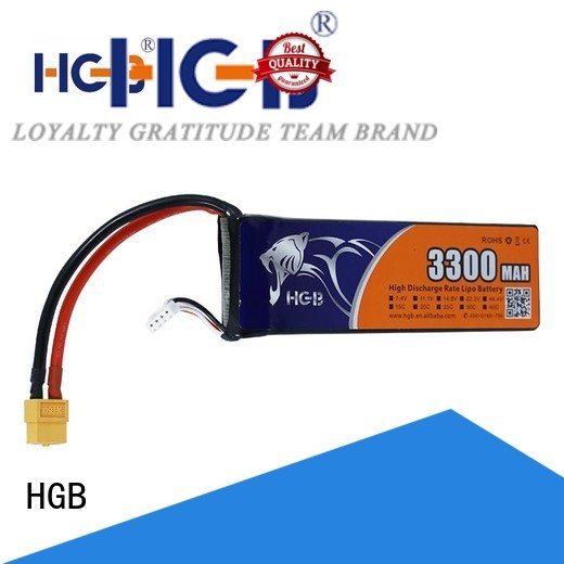 HGB reliable rc plane battery factory for RC planes