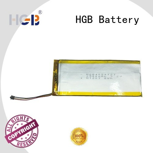 HGB light weight flat lithium polymer battery manufacturer for mobile devices