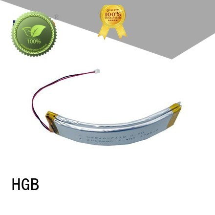 HGB curved battery design for multi-function integrated watch