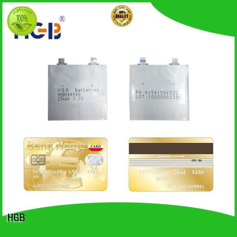 HGB thinnest rechargeable battery wholesale for smart cards