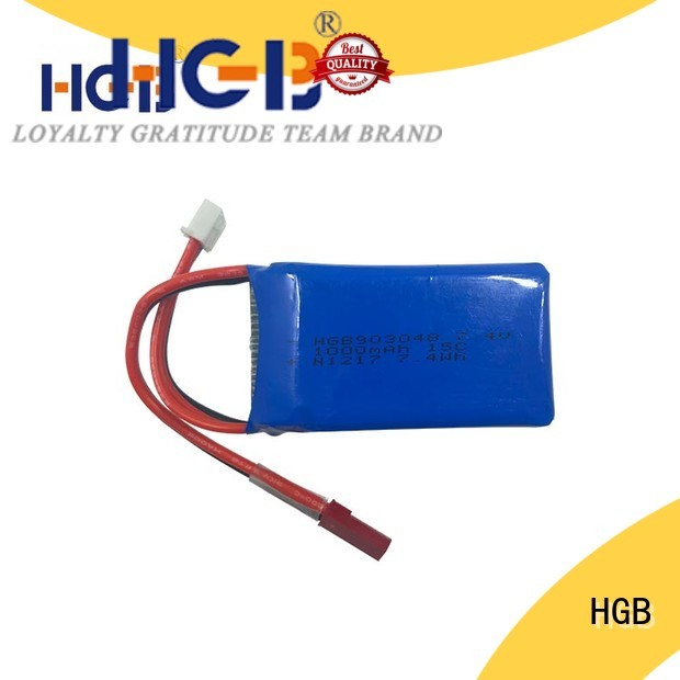 HGB rechargeable rc lithium ion battery directly sale for RC quadcopters