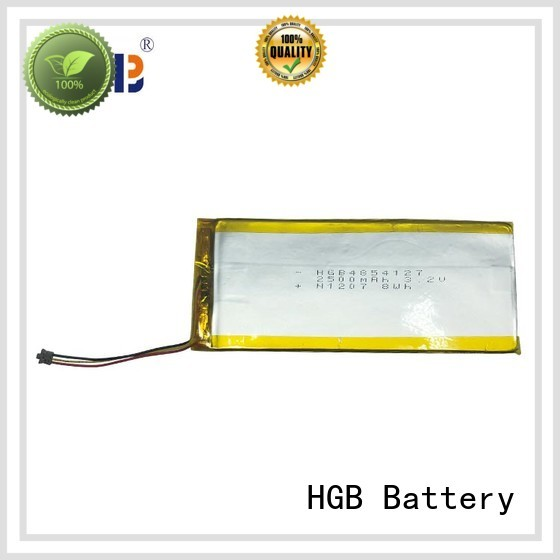HGB reliable thin lithium polymer battery customized for notebook