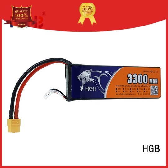 HGB lithium polymer battery for rc helicopter directly sale for RC quadcopters