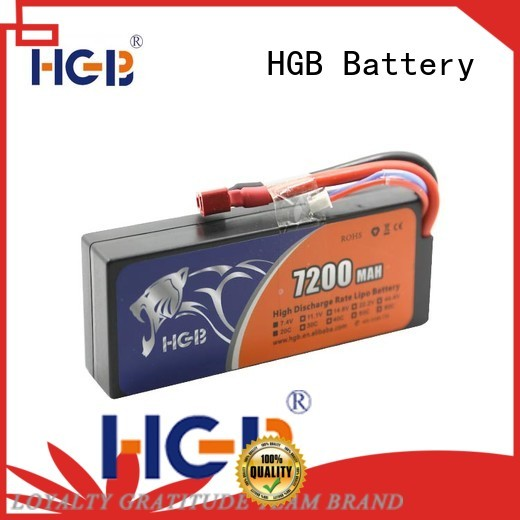 HGB reliable car battery rc factory price for RC planes