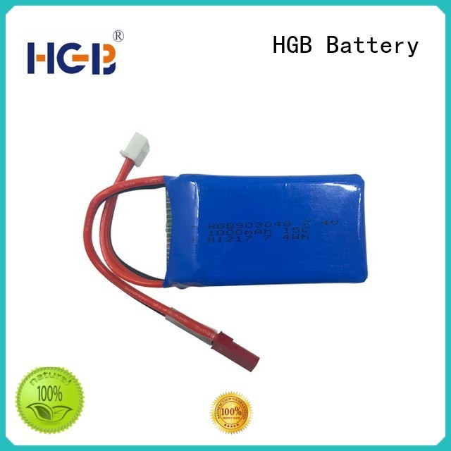 HGB rc lithium ion battery factory price for RC helicopter