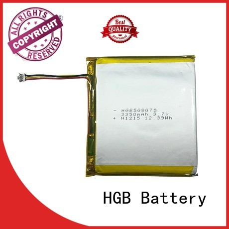 HGB thinnest lithium ion battery customized for mobile devices