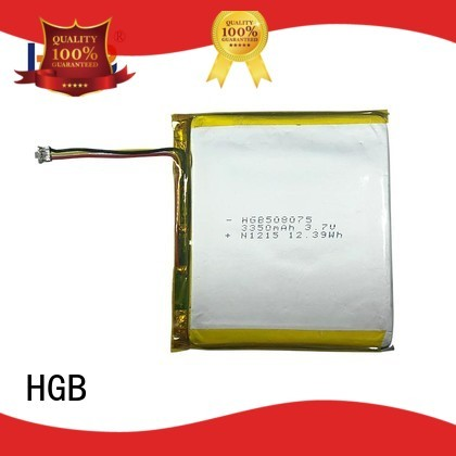 HGB popular flat lithium polymer battery supplier for computers