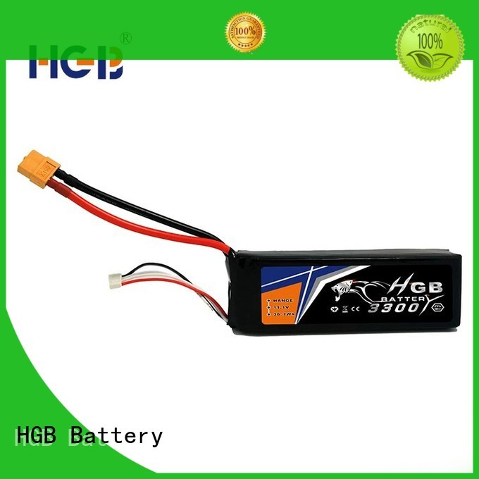 HGB professional rc lithium polymer batteries manufacturer for RC helicopter