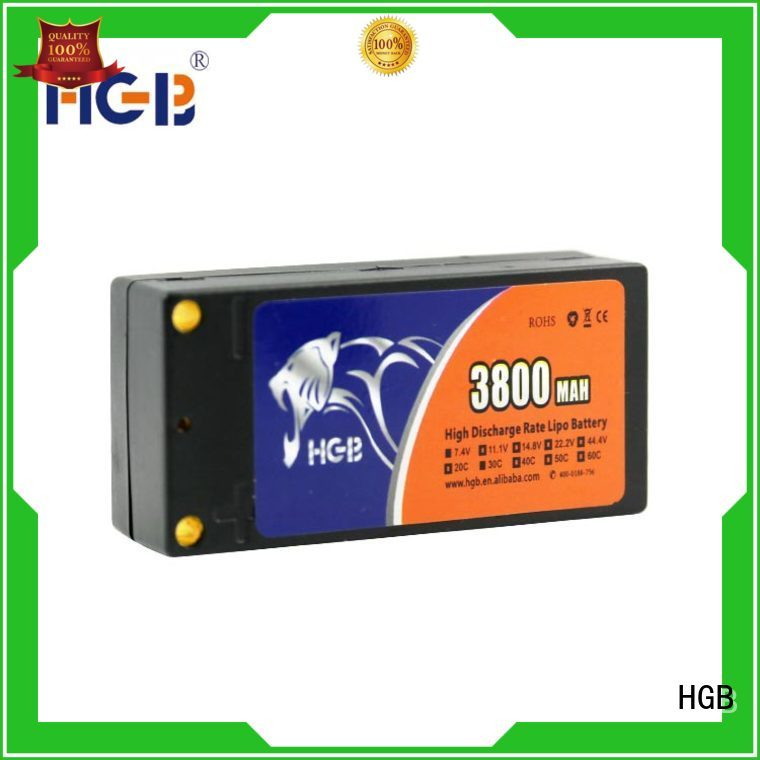 HGB high quality lithium polymer battery for rc helicopter directly sale for RC helicopter