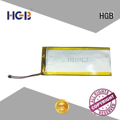 HGB flat lithium polymer battery factory price for notebook