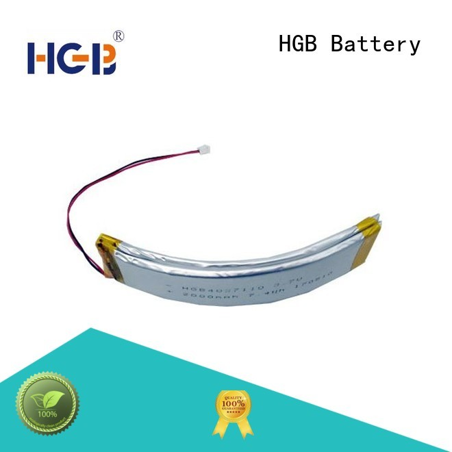 curved lithium polymer battery for multi-function integrated watch HGB