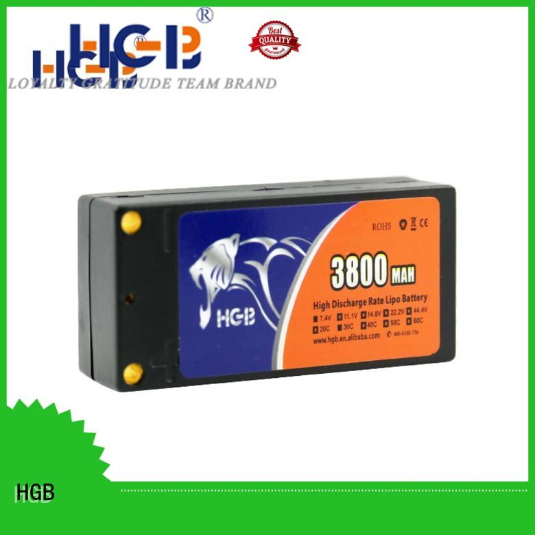 HGB rechargeable rc lithium ion battery directly sale for RC helicopter