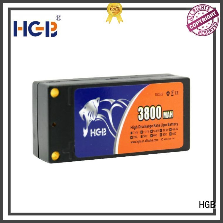 HGB rc plane battery factory price for RC quadcopters