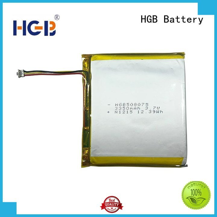 HGB popular flat lithium ion battery customized for mobile devices