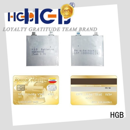 HGB thin battery factory price for smart cards