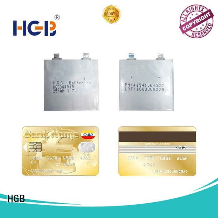 HGB high voltage ultra thin battery directly sale for smart cards