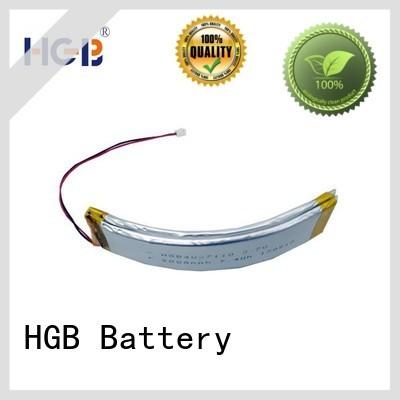 HGB flexible battery pack design for wearable battery