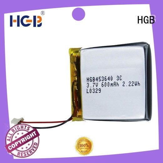 HGB quality flat lithium ion battery manufacturer for mobile devices