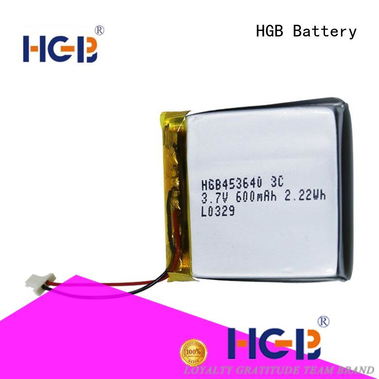 HGB light weight rechargeable lithium polymer battery directly sale for mobile devices